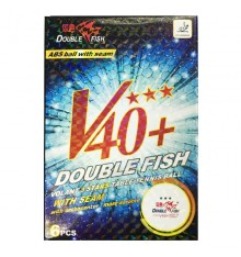 Double Fish 3 Star V40+ ABS Ball (6 PACK BOX)